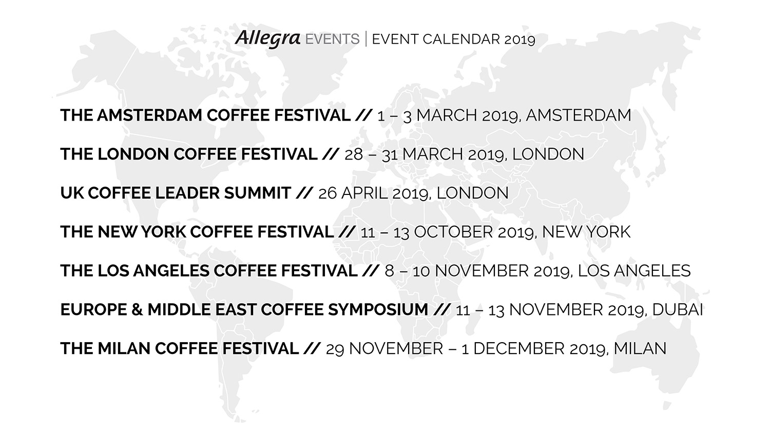 London Events Calendar 2019 Other Events   Europe & Middle East Cofffee Symposium 2019